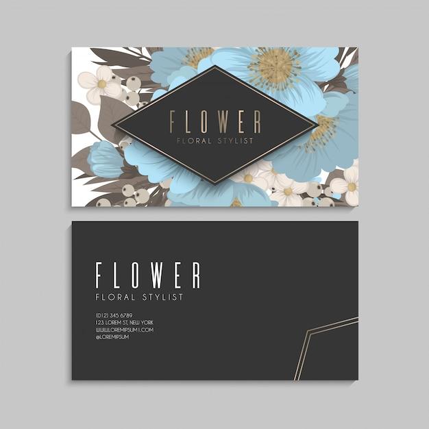 Floral border background - light blue flowers Free Vector