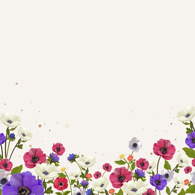 Floral border mockup Free Vector