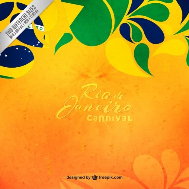 Floral Brazil Carnival Background Vector Free Download