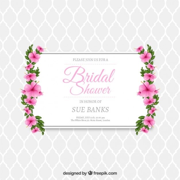 Invitation Party Wedding Free Vector Graphic On Pixabay: Floral Bridal Shower Invitation Vector