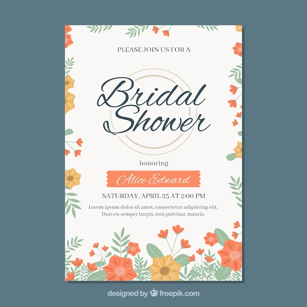 Invitation Party Wedding Free Vector Graphic On Pixabay: Floral Bridal Shower Party Invitation Vector