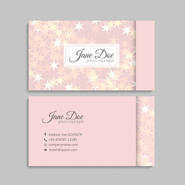 Floral business card design Free Vector