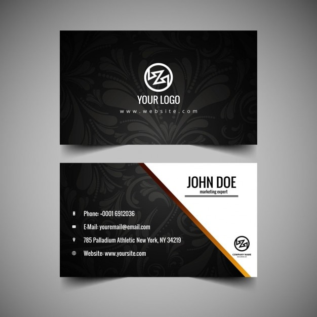 Floral business card vector free download floral business card free vector reheart Gallery