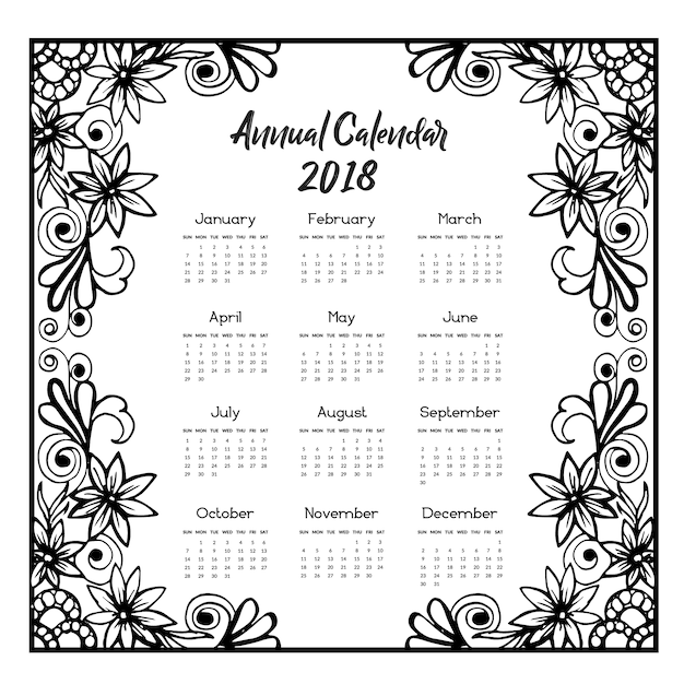 Floral calendar 2018