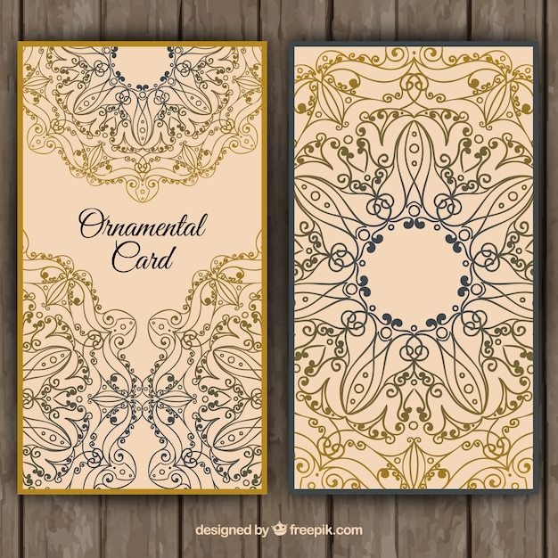 Floral card in ornamental style Free Vector