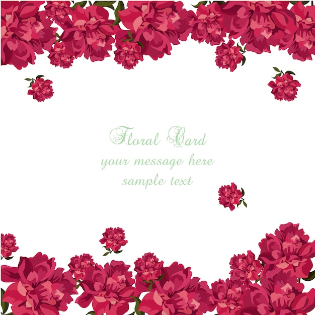 floral card template free vector