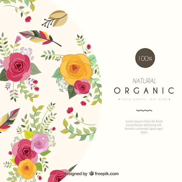 floral card template vector free download