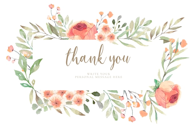 Floral card with Free Vector