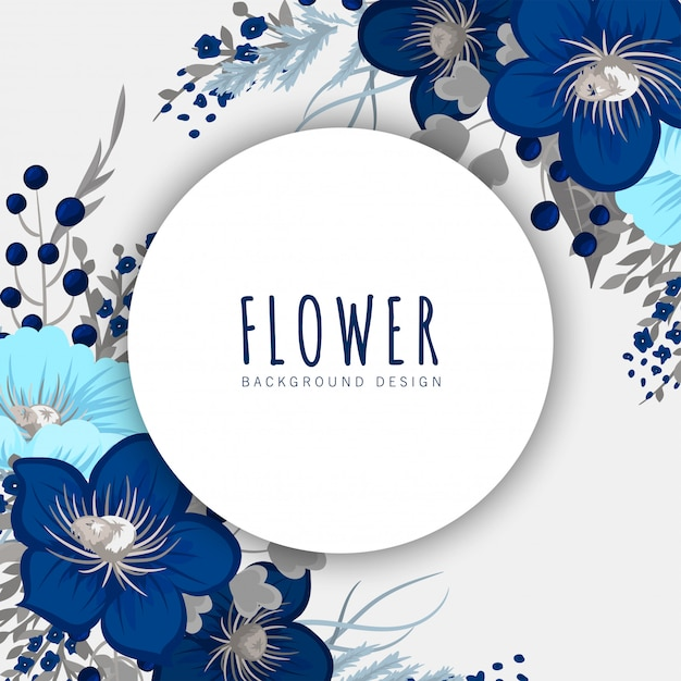 Floral circle border Free Vector
