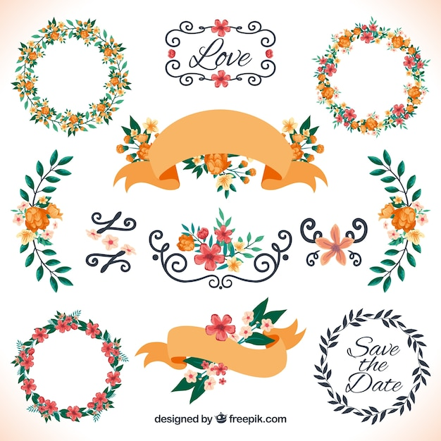 Floral Decoration floral decoration for wedding vector | free download