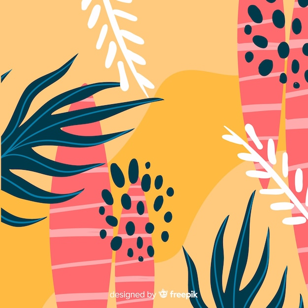 Floral decorative background flat design Free Vector