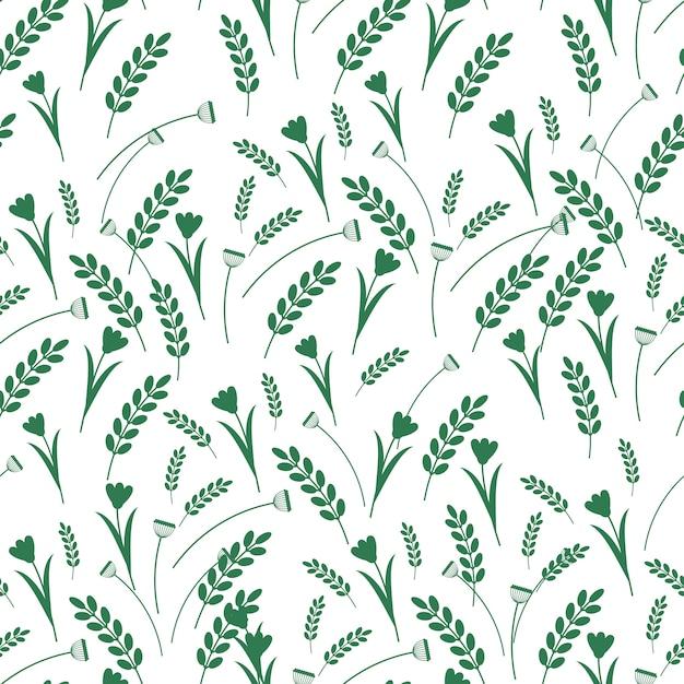 Floral decorative seamless pattern Premium Vector