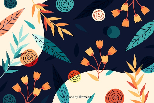 Floral design abstract background Free Vector