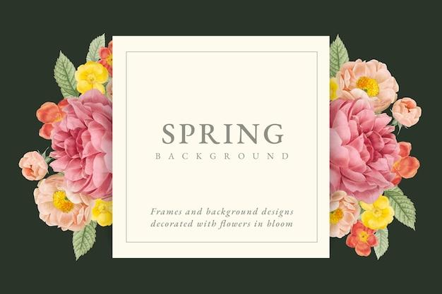 Floral design background Free Vector