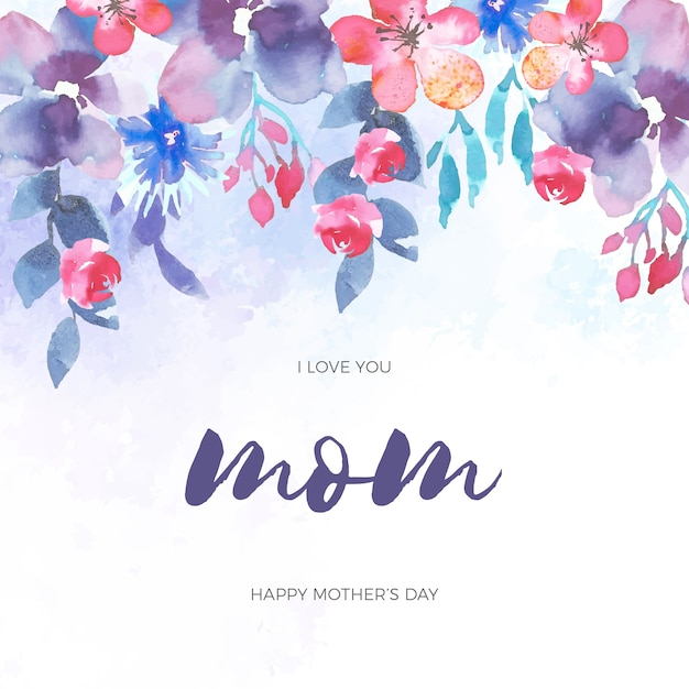 Floral design mother's day event Free Vector
