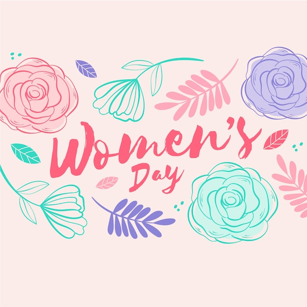 Floral design for women's day event Free Vector