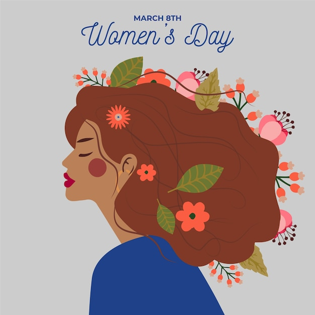 Floral design for womens day event celebration Free Vector