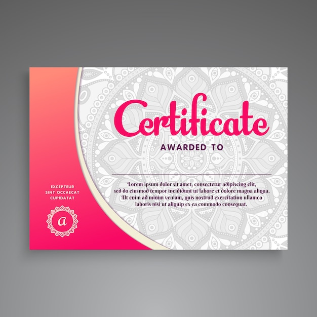Ilustrasi bunga diploma Vektor Premium