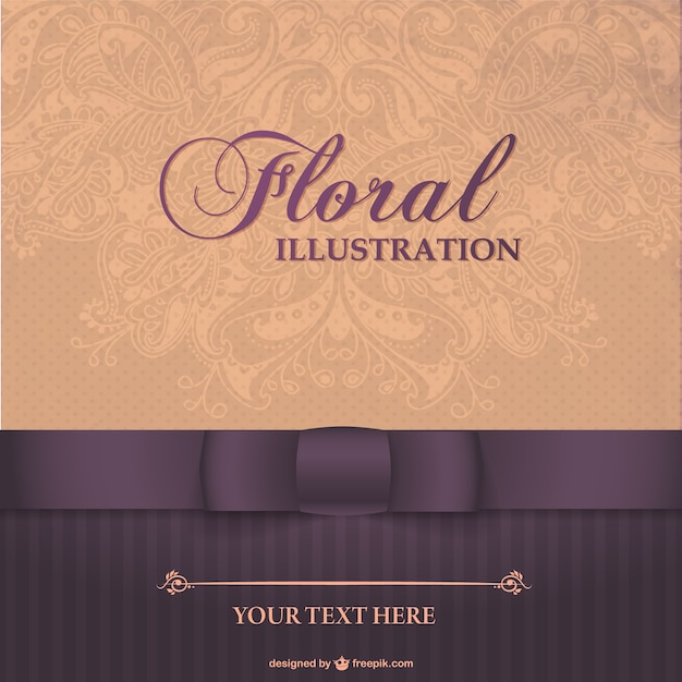Floral Elegant Card Design Vector Free Download