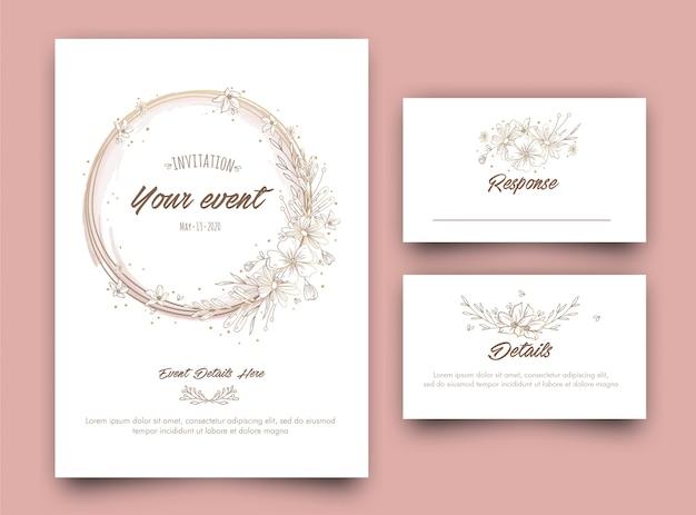Premium Vector Floral Event Invitation Card Template Design