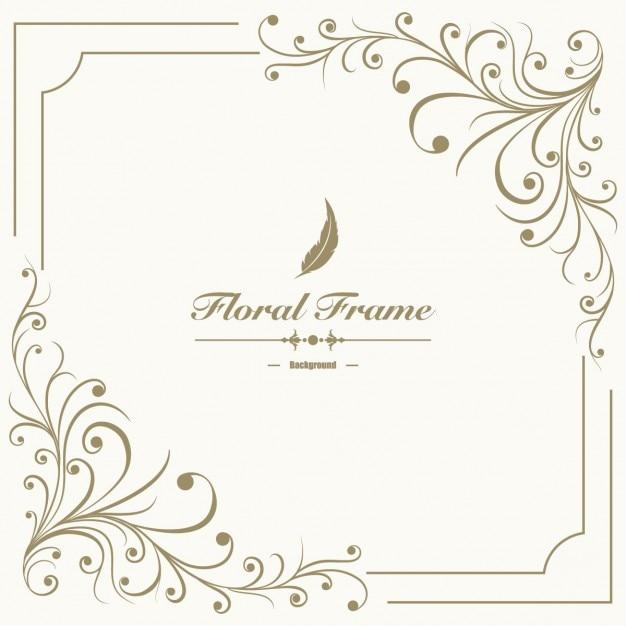 Floral frame background Free Vector
