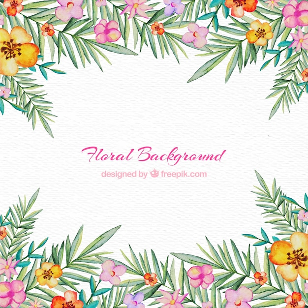 Floral frame background Free Vector
