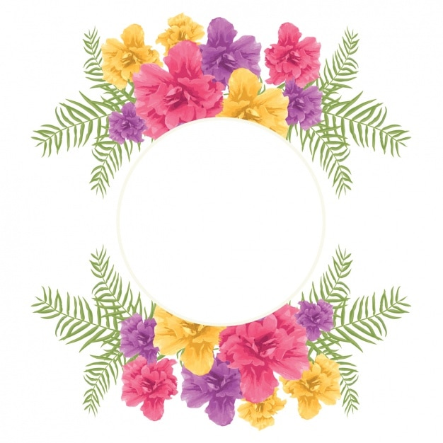 Floral Frame Design Vector Free Download