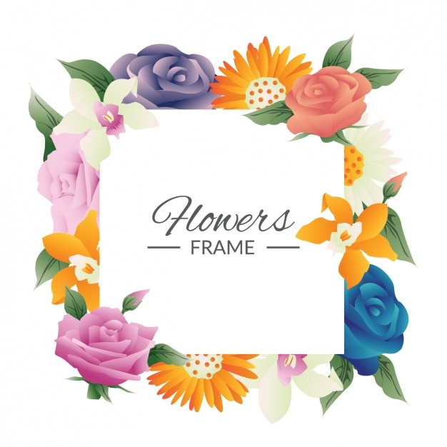 Floral frame design vector free download - Photo image design ...