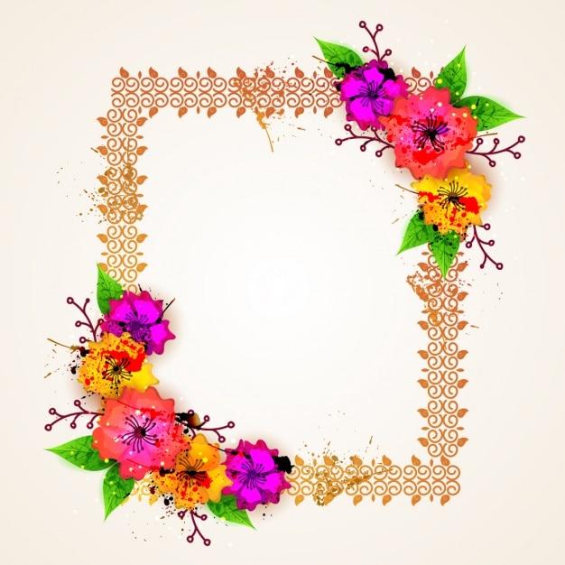 frame design flower. floral frame design premium vector flower m