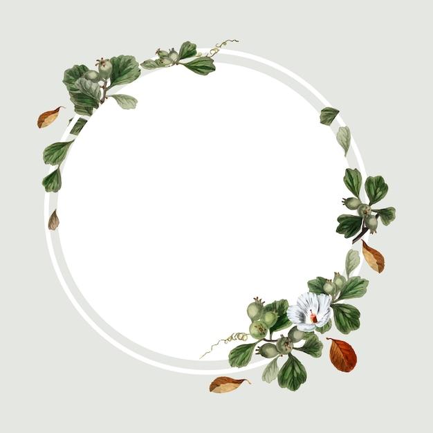 Floral frame design Free Vector