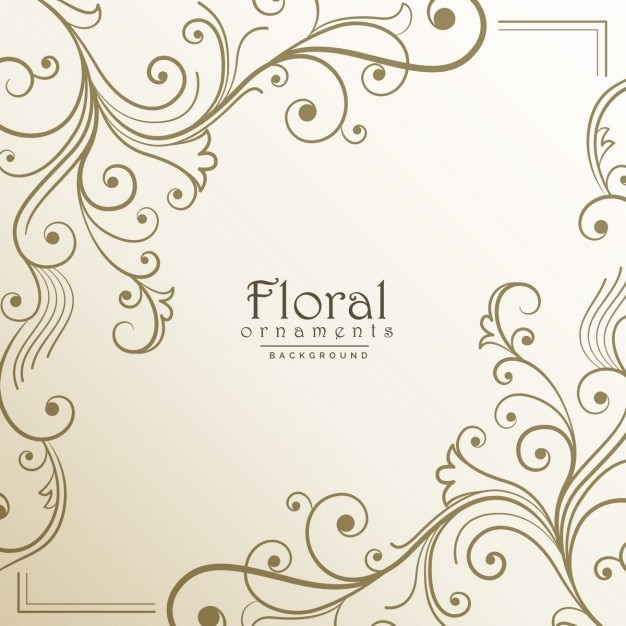 Floral frame on a light background Free Vector