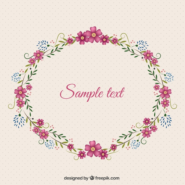 Superb Floral Frame Template Free Vector
