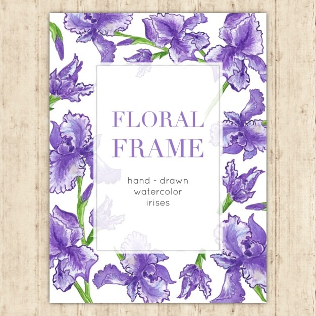 Floral frame for wedding invitations Free Vector