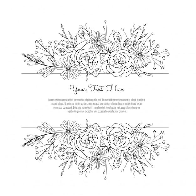 Floral frame for wedding Premium Vector