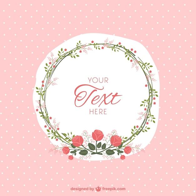 Floral frame Vector | Free Download