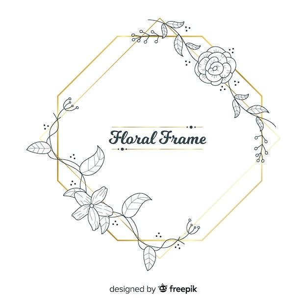 Floral frame Free Vector