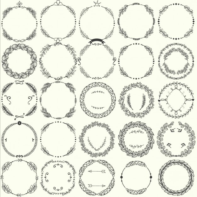 Floral frames collection Free Vector