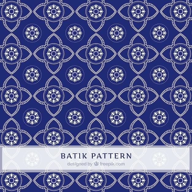 Floral Geometric Batik Pattern Vector