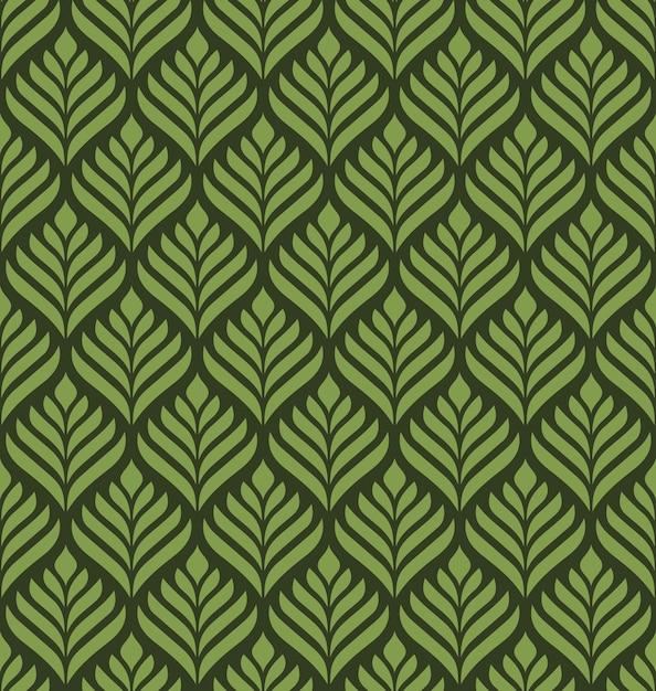 花の幾何学的なシームレスパターン Premiumベクター