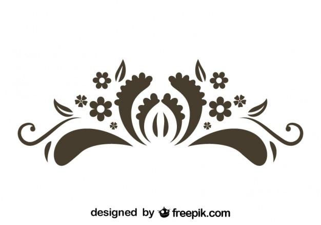 Floral Graphic Element Retro Style Design Vector