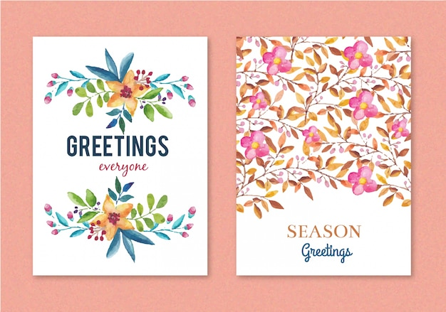 Floral greeting card design vector free download floral greeting card design free vector m4hsunfo