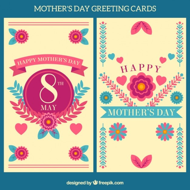 Floral greeting card for mother\'s day