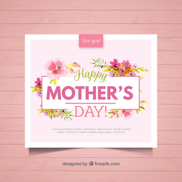 Floral greeting card for mothers day vector free download floral greeting card for mothers day free vector m4hsunfo
