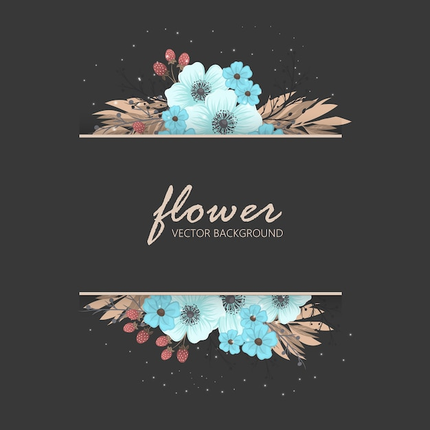 Floral greeting card template. Premium Vector