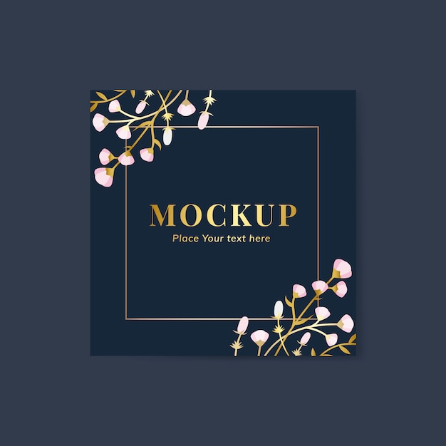 Floral greeting card Free Vector