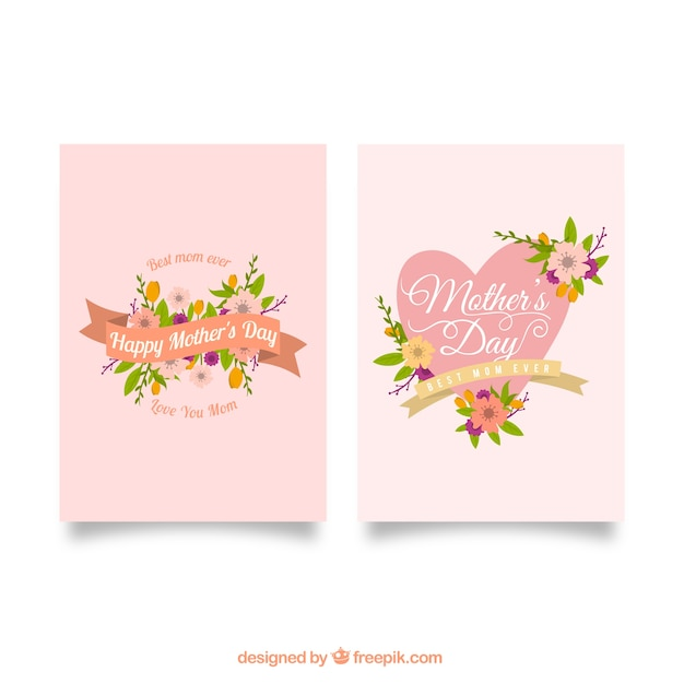 Floral greeting cards for mothers day vector free download floral greeting cards for mothers day free vector m4hsunfo