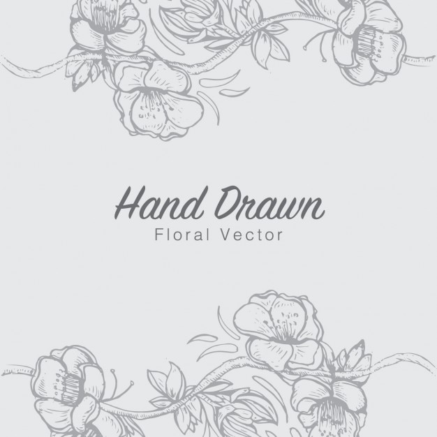 Floral hand drawn background Free Vector