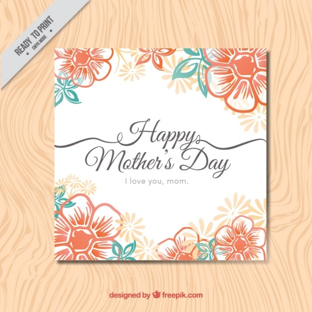 Floral Happy Mother\'s Day card