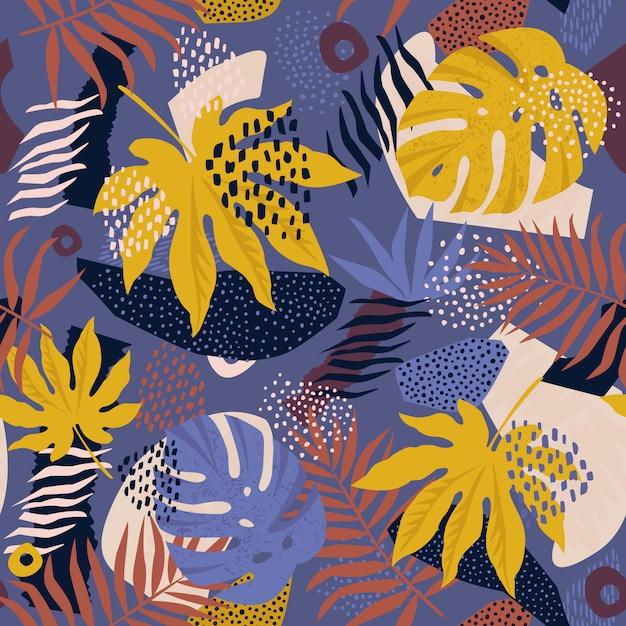 Floral hawaiian pattern in vector Premium Vector