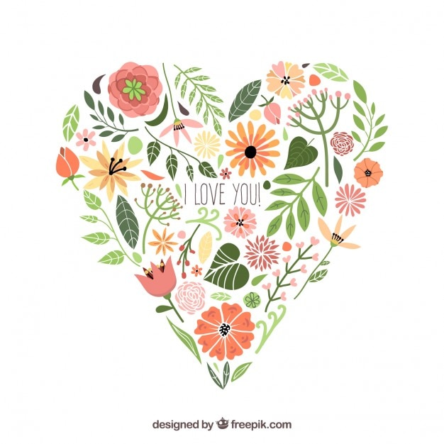 free vector | floral heart  freepik
